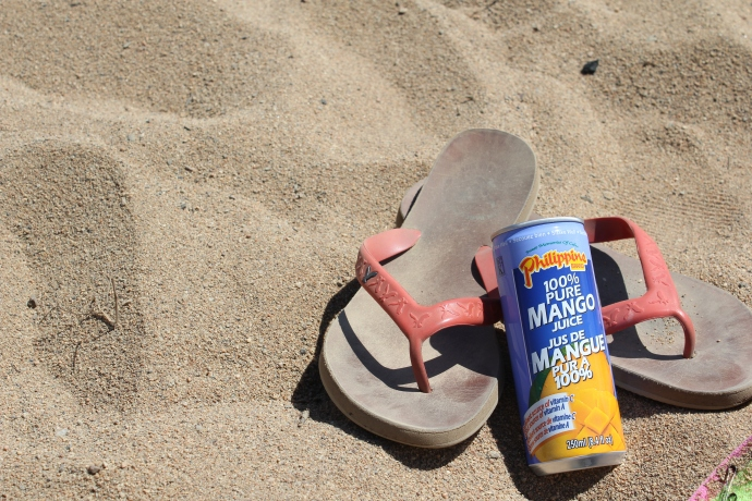 Mango Juice and Beach Sandals @ Skaha Beach