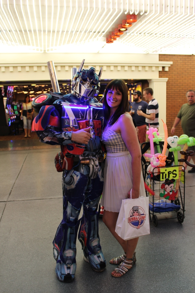 Jen and Optimus Prime