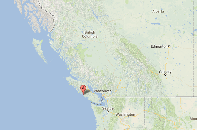 Location of Tofino