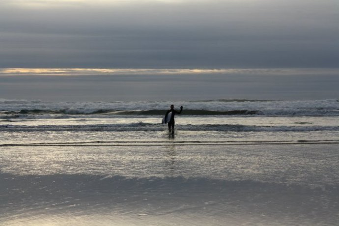 That's me practicing my surfing skills in Tofino!