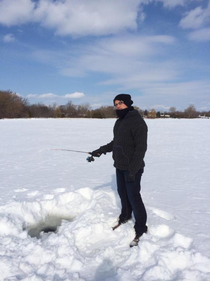 That's me - Ice Fishing!